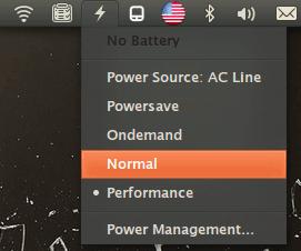 Апплет уведомлений заряда батареи