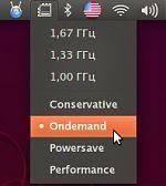 Индикатор управления частотой процессора для апплета уведомлений Ubuntu