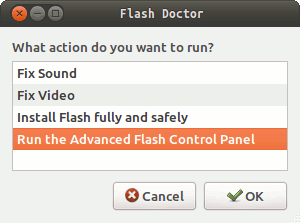 Чиним flash в Ubuntu с помощью Flash-Doctor